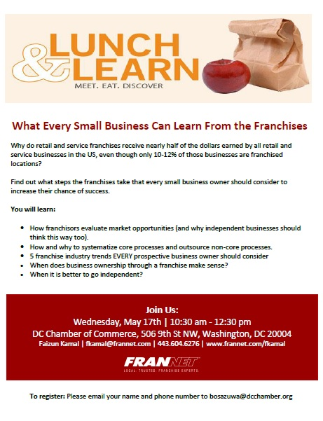 Lunch and Learn: What Every Small Business Can Learn From the Franchises